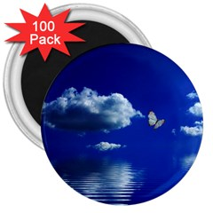 Sky 3  Button Magnet (100 Pack)