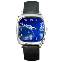 Sky Square Leather Watch