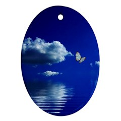 Sky Oval Ornament (Two Sides)