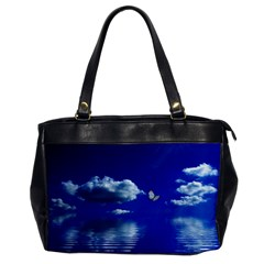 Sky Oversize Office Handbag (one Side)