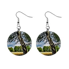 Trees Mini Button Earrings