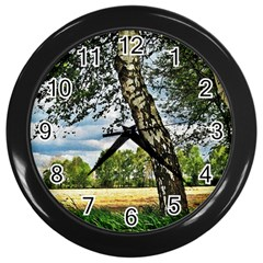 Trees Wall Clock (black)
