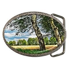 Trees Belt Buckle (Oval)