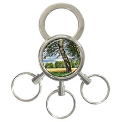 Trees 3-Ring Key Chain