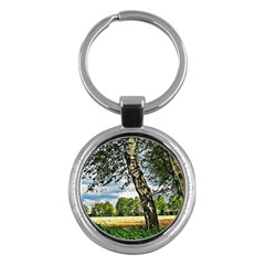 Trees Key Chain (round)