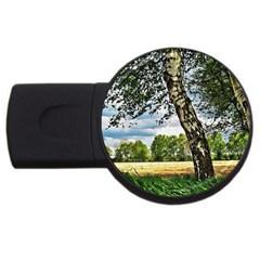 Trees 1GB USB Flash Drive (Round)