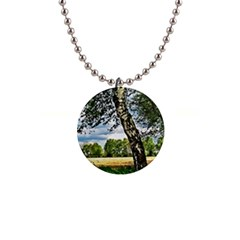 Trees Button Necklace