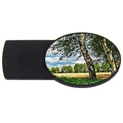 Trees 4gb Usb Flash Drive (oval)
