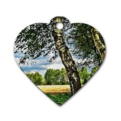 Trees Dog Tag Heart (One Sided)