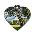 Trees Dog Tag Heart (Two Sided) Back