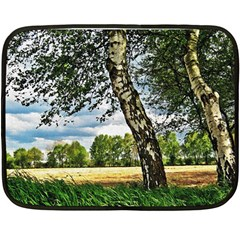 Trees Mini Fleece Blanket (Two Sided)