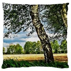Trees Large Cushion Case (Single Sided)