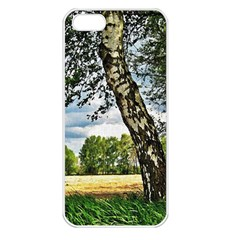 Trees Apple iPhone 5 Seamless Case (White)