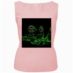 Modern Art Womens  Tank Top (Pink)