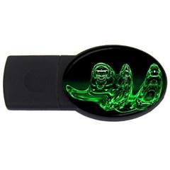 Modern Art 2GB USB Flash Drive (Oval)