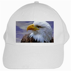 Bald Eagle White Baseball Cap