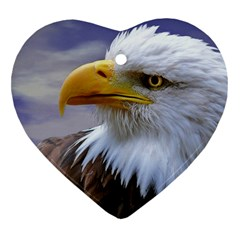 Bald Eagle Heart Ornament