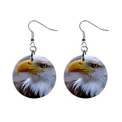 Bald Eagle Mini Button Earrings