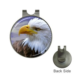 Bald Eagle Hat Clip With Golf Ball Marker