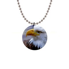 Bald Eagle Button Necklace