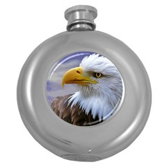 Bald Eagle Hip Flask (Round)