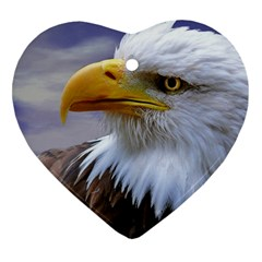 Bald Eagle Heart Ornament (two Sides)