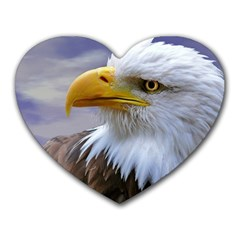 Bald Eagle Mouse Pad (heart)
