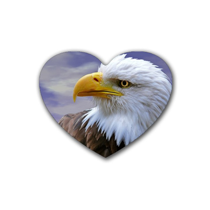 Bald Eagle Drink Coasters (Heart)
