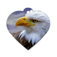 Bald Eagle Dog Tag Heart (Two Sided)