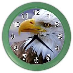 Bald Eagle Wall Clock (Color)