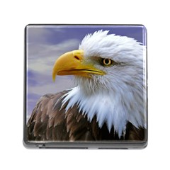 Bald Eagle Memory Card Reader with Storage (Square)