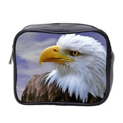 Bald Eagle Mini Travel Toiletry Bag (Two Sides)