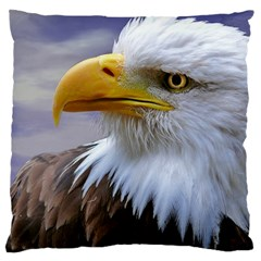 Bald Eagle Large Cushion Case (two Sided)