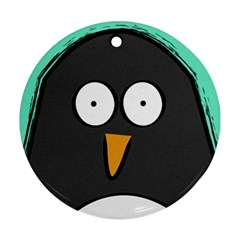 Penguin Round Ornament (two Sides)