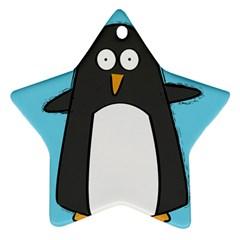 hello penguin Star Ornament