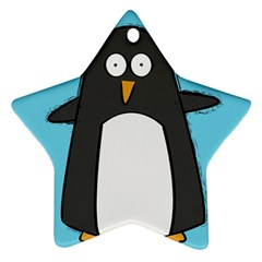 Hello Penguin Star Ornament (two Sides)