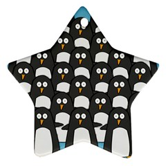 penguin group Star Ornament