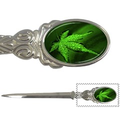 Leaf With Drops Letter Opener
