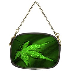 Leaf With Drops Chain Purse (One Side)
