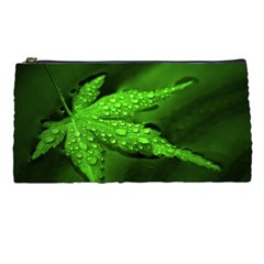 Leaf With Drops Pencil Case