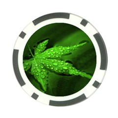 Leaf With Drops Poker Chip 10 Pack