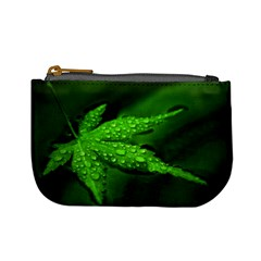 Leaf With Drops Coin Change Purse