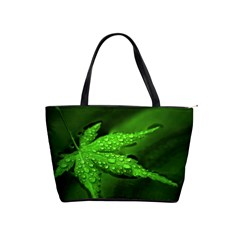 Leaf With Drops Large Shoulder Bag