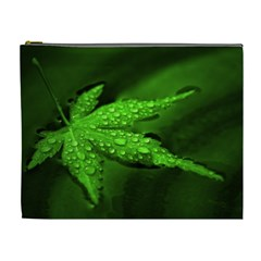 Leaf With Drops Cosmetic Bag (xl)