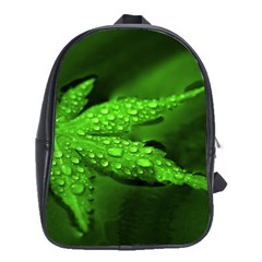 Leaf With Drops School Bag (Large)