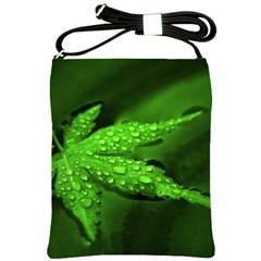 Leaf With Drops Shoulder Sling Bag