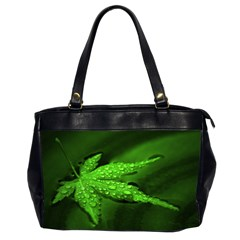 Leaf With Drops Oversize Office Handbag (Two Sides)