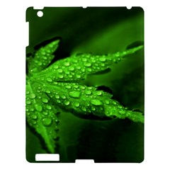 Leaf With Drops Apple iPad 3/4 Hardshell Case
