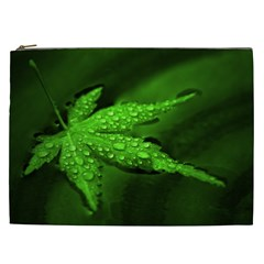 Leaf With Drops Cosmetic Bag (XXL)