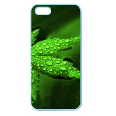 Leaf With Drops Apple Seamless Iphone 5 Case (color)